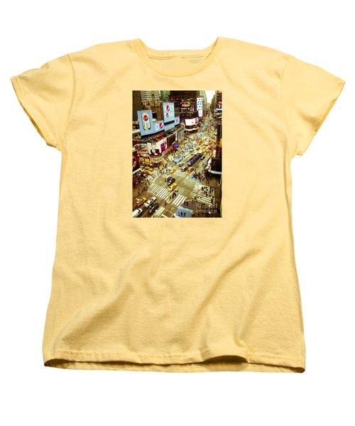 Times Square Traffic Women's T-Shirt (Standard Cut) by Perry Van Munster