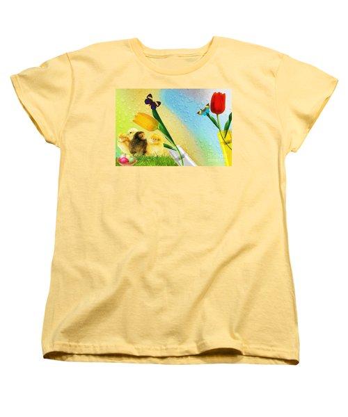 Tiptoe Through The Tulips Women's T-Shirt (Standard Cut) by Liane Wright