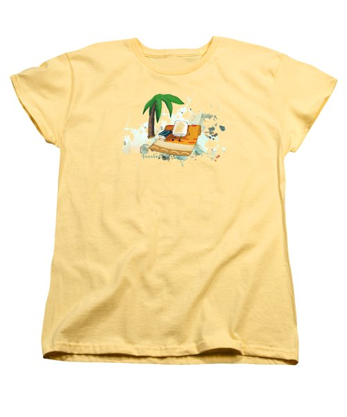 Toasted Illustrated Women's T-Shirt (Standard Cut) by Heather Applegate