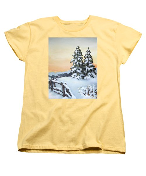 Women's T-Shirt (Standard Cut) featuring the painting Together by Inese Poga