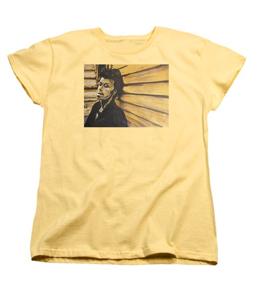 Women's T-Shirt (Standard Cut) featuring the painting Tom Waits by Eric Dee
