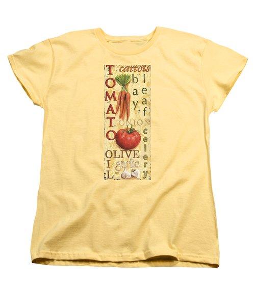 Tomato Soup Women's T-Shirt (Standard Cut) by Debbie DeWitt