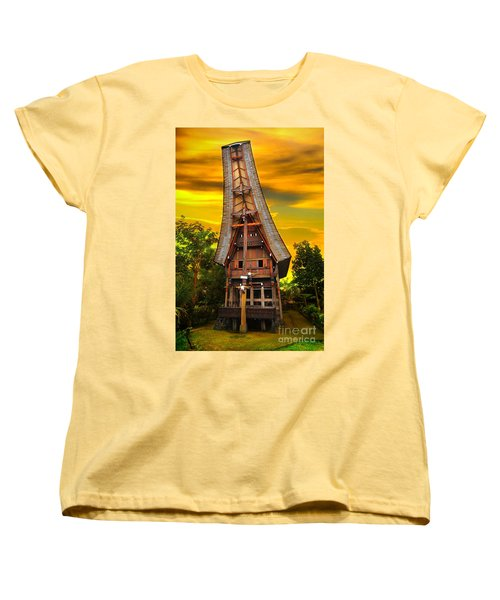 Women's T-Shirt (Standard Cut) featuring the photograph Toraja Architecture by Charuhas Images