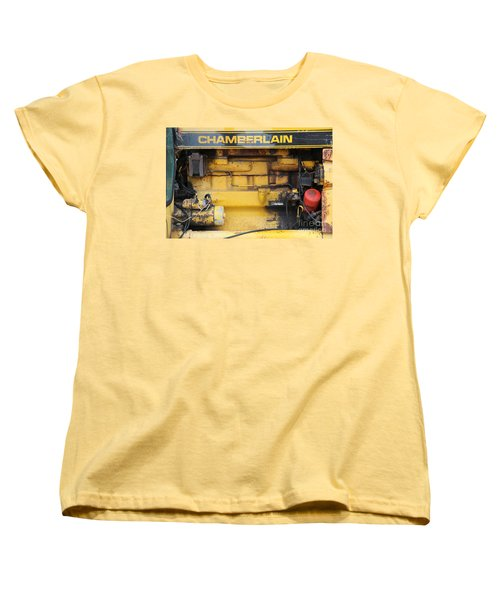 Women's T-Shirt (Standard Cut) featuring the photograph Tractor Engine Iv by Stephen Mitchell