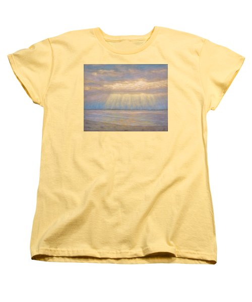 Women's T-Shirt (Standard Cut) featuring the painting Tranquility by Joe Bergholm