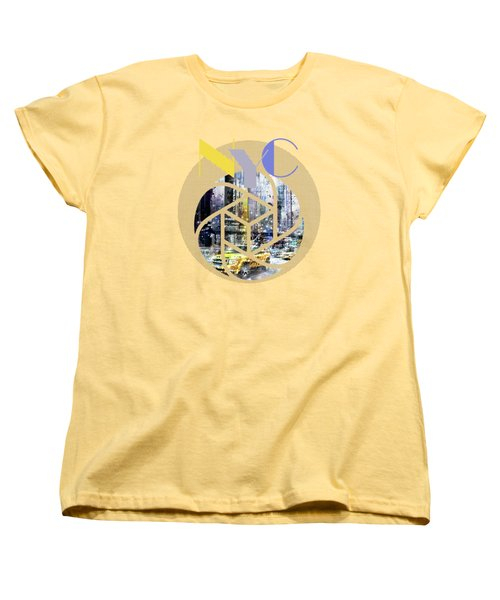 Trendy Design New York City Geometric Mix No 3 Women's T-Shirt (Standard Cut) by Melanie Viola