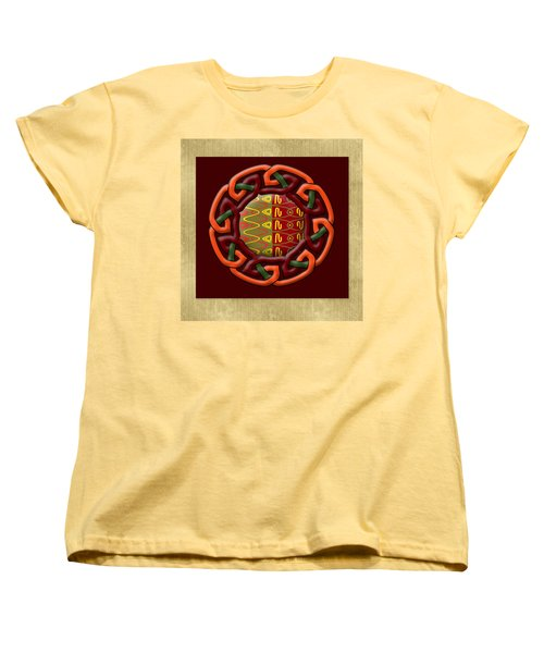 Tribal Celt Earthiness Women's T-Shirt (Standard Cut) by Kandy Hurley