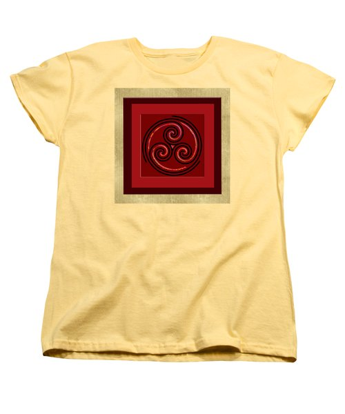 Tribal Celt Triple Spiral Women's T-Shirt (Standard Cut) by Kandy Hurley