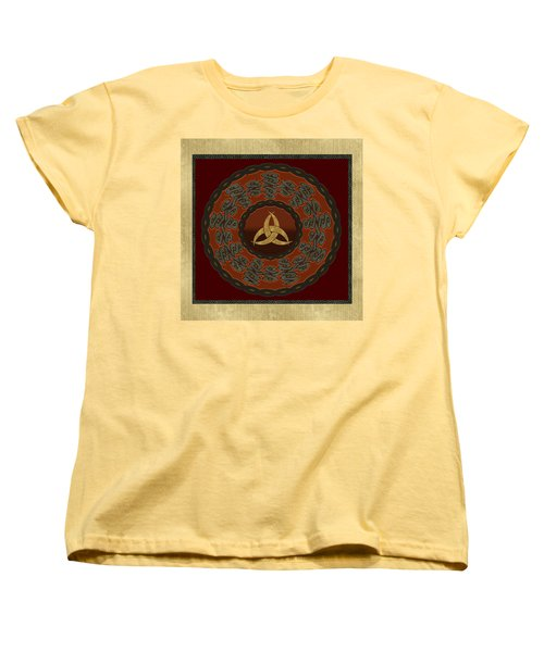 Tribal Celt Triquetra Symbol Women's T-Shirt (Standard Cut) by Kandy Hurley