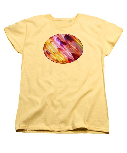 Triton Seashell Multicolor Abstract Women's T-Shirt (Standard Cut) by Gill Billington