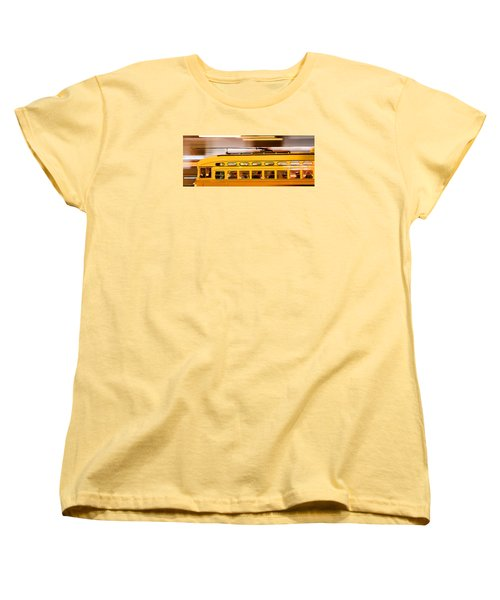 Women's T-Shirt (Standard Cut) featuring the photograph Trolley 1052 On The Move by Steve Siri