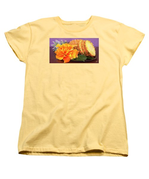 Women's T-Shirt (Standard Cut) featuring the photograph Tropical Delight Still Life by Ben and Raisa Gertsberg