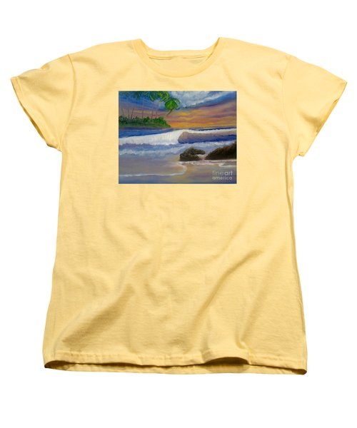 Women's T-Shirt (Standard Cut) featuring the painting Tropical Dream by Holly Martinson