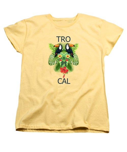 Tropical Summer  Women's T-Shirt (Standard Cut)