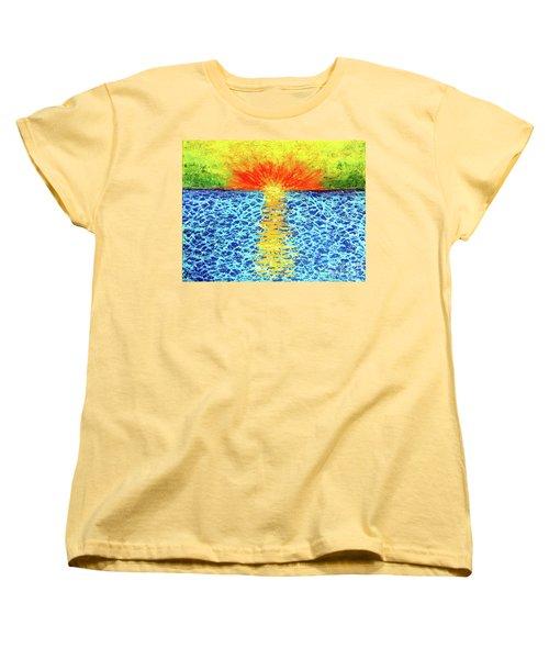 Tropical Sunrise Women's T-Shirt (Standard Cut) by Pattie Calfy