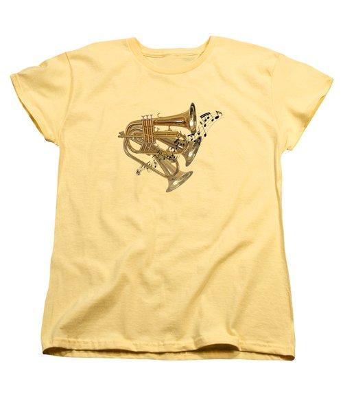 Trumpet Fanfare Women's T-Shirt (Standard Cut) by Gill Billington