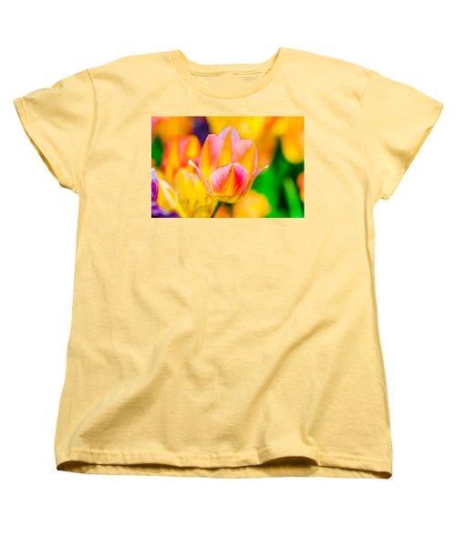 Women's T-Shirt (Standard Cut) featuring the photograph Tulips Enchanting 48 by Alexander Senin