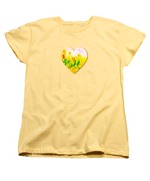 Tulips In Springtime-floral Painting By V.kelly Women's T-Shirt (Standard Cut)