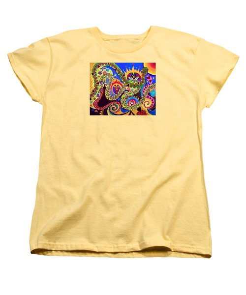 Women's T-Shirt (Standard Cut) featuring the painting Serpent's Dance by Marina Petro