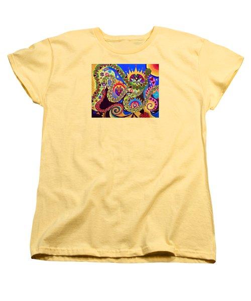 Serpent's Dance Women's T-Shirt (Standard Cut) by Marina Petro
