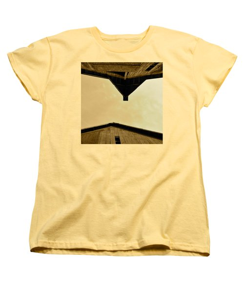 Two Barns In Sepia Women's T-Shirt (Standard Cut) by JD Grimes
