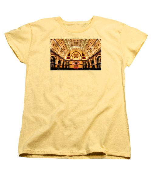 Union Station Balcony Women's T-Shirt (Standard Cut) by Kristin Elmquist