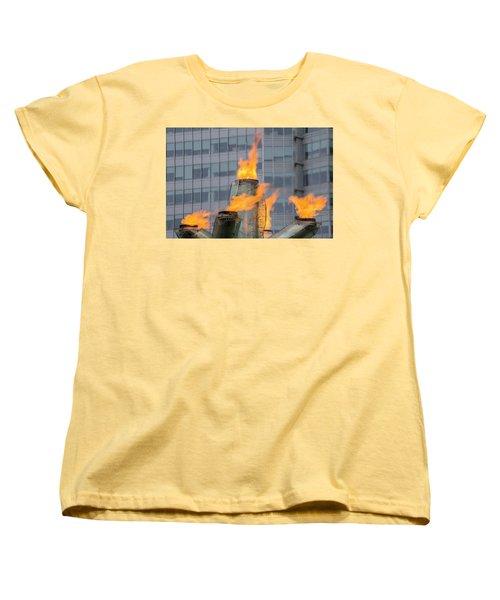 Vancouver Olympic Cauldron 2 Women's T-Shirt (Standard Cut) by Ross G Strachan