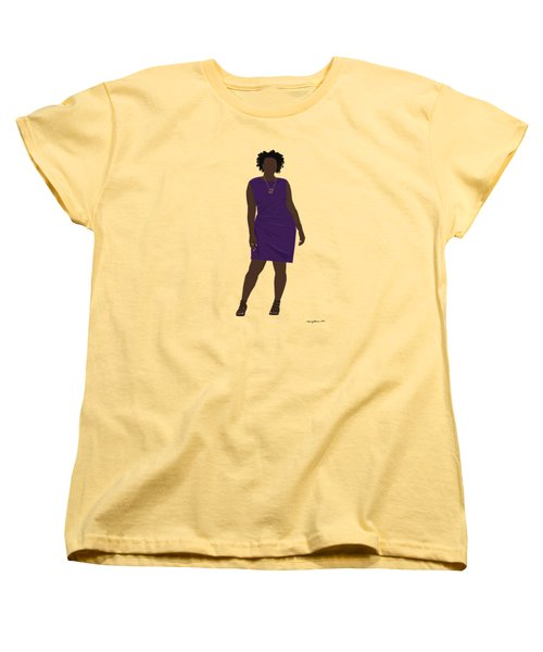 Women's T-Shirt (Standard Cut) featuring the digital art Vanessa by Nancy Levan