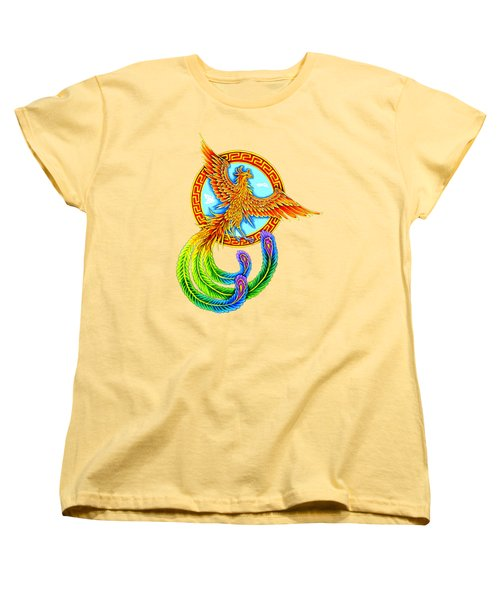 Vermilion Bird Women's T-Shirt (Standard Cut) by Rebecca Wang