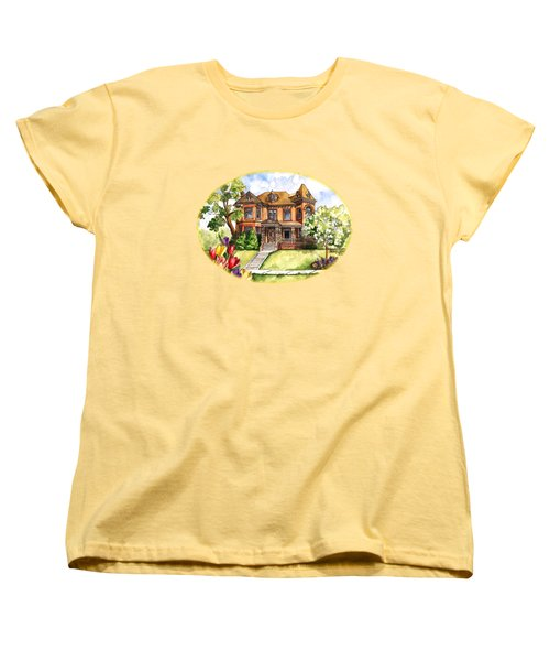 Victorian Mansion In The Spring Women's T-Shirt (Standard Cut) by Shelley Wallace Ylst
