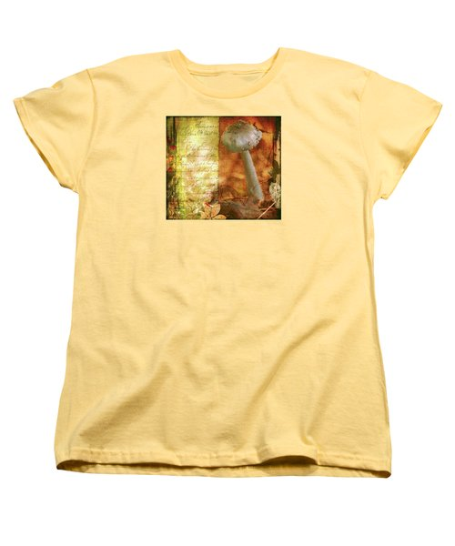Women's T-Shirt (Standard Cut) featuring the photograph Vintage Nature Journal Page  by Bellesouth Studio