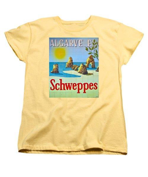 Vintage Schweppes Algarve Mosaic Women's T-Shirt (Standard Cut) by Angelo DeVal
