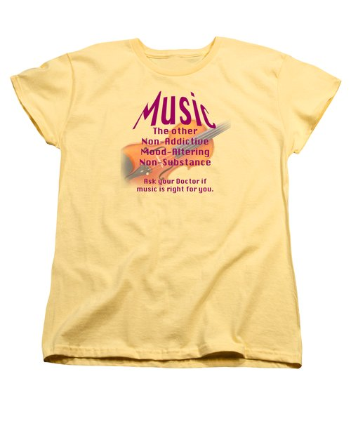Violin Or Viola Music Is Right For You 5499.02 Women's T-Shirt (Standard Cut) by M K  Miller