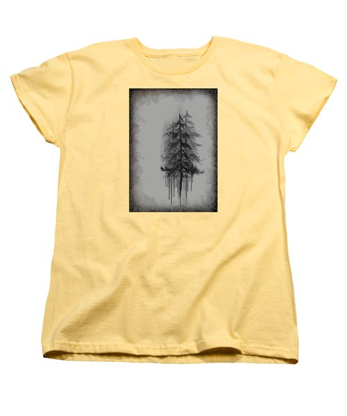 Women's T-Shirt (Standard Cut) featuring the painting Voices by Annette Berglund