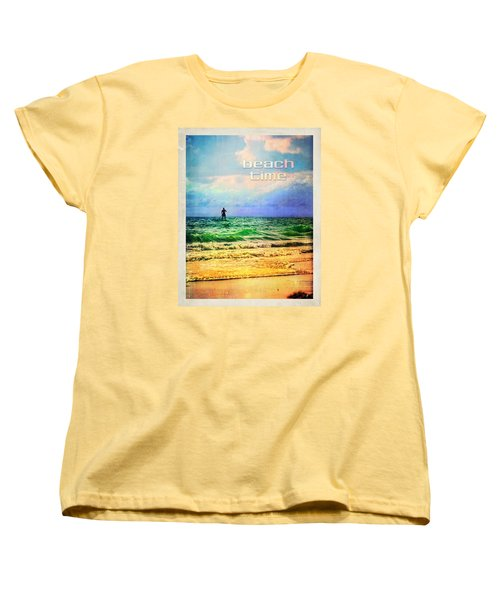 Women's T-Shirt (Standard Cut) featuring the photograph Beach Time by Tammy Wetzel