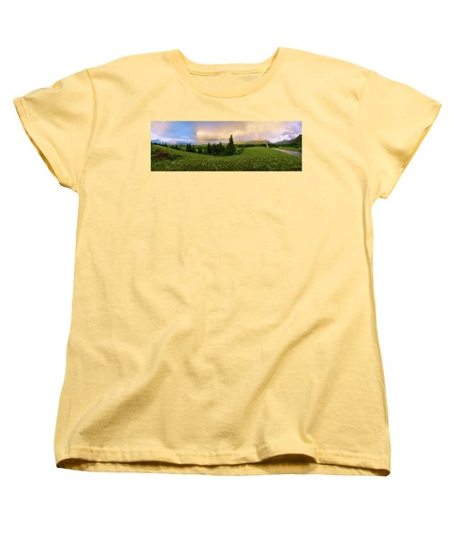 Women's T-Shirt (Standard Cut) featuring the photograph Warm The Soul Panorama by Chad Dutson