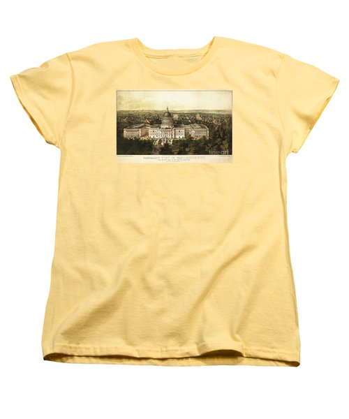 Washington City 1857 Women's T-Shirt (Standard Cut) by Jon Neidert