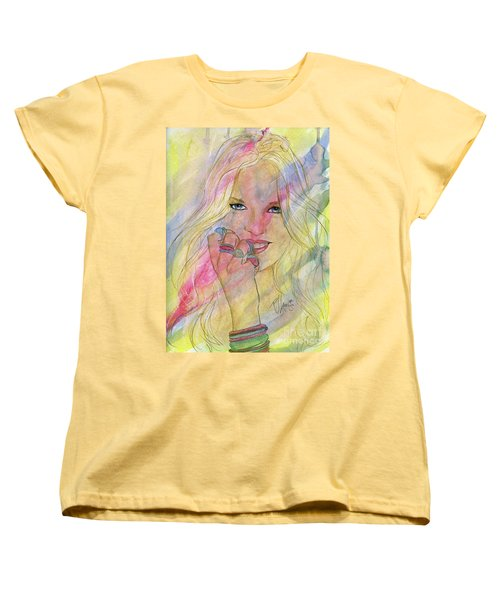 Water Colored Memories Women's T-Shirt (Standard Cut) by P J Lewis