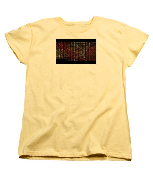 Women's T-Shirt (Standard Cut) featuring the digital art Abstract Visuals - Wavelengths by Charmaine Zoe