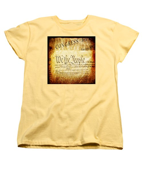 We The People Women's T-Shirt (Standard Cut) by Angelina Vick