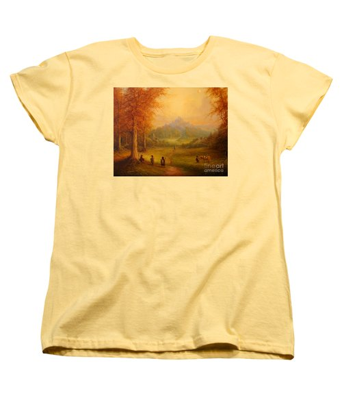 Weathertop Women's T-Shirt (Standard Cut) by Joe  Gilronan