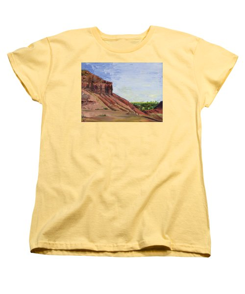 Women's T-Shirt (Standard Cut) featuring the painting Weber Sandstone by Jane Autry