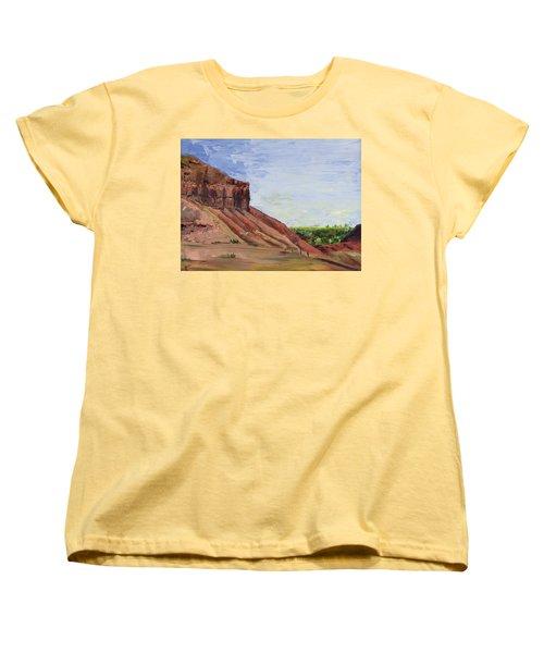 Weber Sandstone Women's T-Shirt (Standard Cut) by Jane Autry