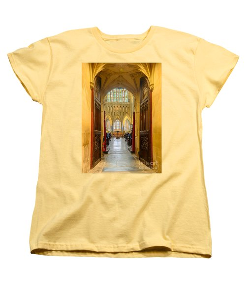 Wellscathedral, The Quire Women's T-Shirt (Standard Cut) by Colin Rayner
