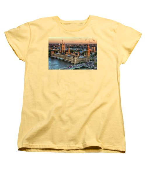 Westminster Palace Women's T-Shirt (Standard Cut) by Tim Stanley
