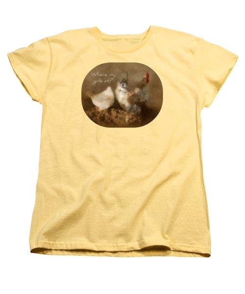 Where My Girls At Women's T-Shirt (Standard Cut) by Anita Faye