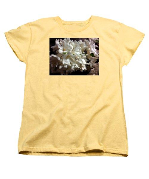 White Hyacinth Women's T-Shirt (Standard Cut) by Jasna Dragun