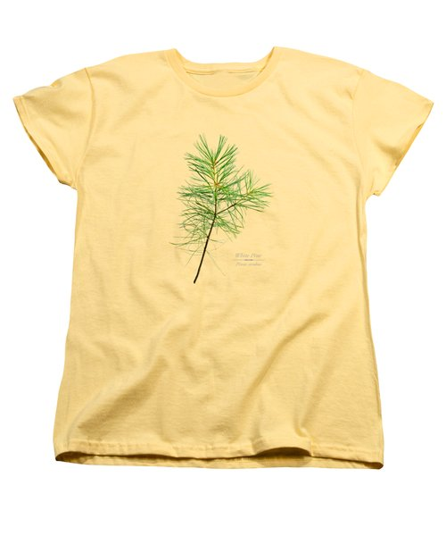 Women's T-Shirt (Standard Cut) featuring the mixed media White Pine by Christina Rollo