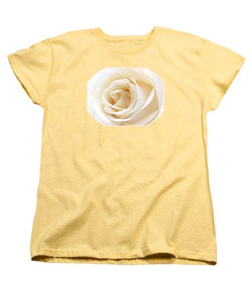 White Rose Heart Women's T-Shirt (Standard Cut) by Gill Billington