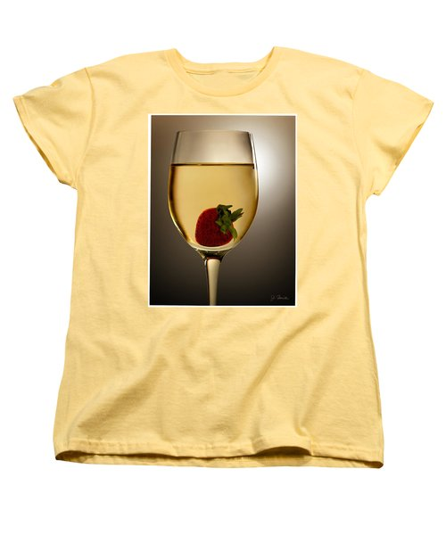 Women's T-Shirt (Standard Cut) featuring the photograph Wild Strawberry by Joe Bonita